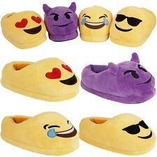 Ladies Emoji Plush Stuffed Slippers Womens Girls Winter Thermal Warm Shoes Boots