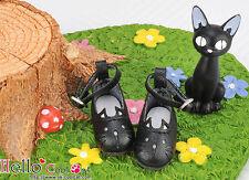 ☆╮Cool Cat╭☆【11-03】Blythe/Pullip Cute Cat Mini Shoes # Black
