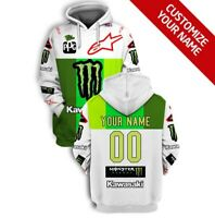 NEW MONSTER PPG KAWASAKI HOODIES AVAILABLE IN ALL SIZES