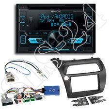 Honda Civic VIII R S ab06 Doppel-DIN Blende+Lenkradadapter+Kenwood DPX3000 Radio