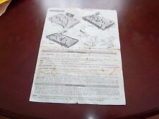 Munro hockey assembly instructions ,rules ,parts 1960's Type A,B,C