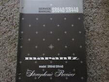 New listing Marantz Sr640 Sr440 Stereo Receiver Original Service Manual
