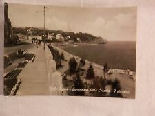 Vecchia foto cartolina d epoca di Celle Ligure Lungomare della Crocetta giardini