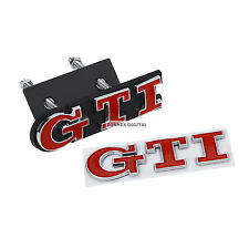GTI Grill + Rear Badge Set Emblem Red Logo Boot Tailgate Golf Polo Car VW