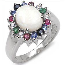 Ring Multicolor Opal,Smaragd,Rubin,Saphir,Tansanit-2,35 Karat