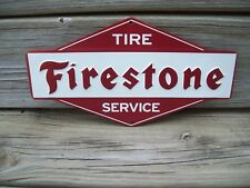 Firestone Tire Metal Sign Embossed Metal Sign