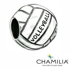 Genuine Chamilia sterling silver 925 Volleyball  bracelet charm bead 2010-3033