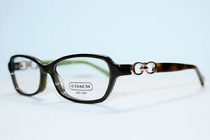 BRAND NEW COACH HC6017 VANESSA 5036 OLIVE AUTHENTIC EYEGLASSES RX 52-15-135 MM