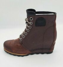 Sorel Womens Leather Waterproof Boot PDX Wedge Cattail Size 11