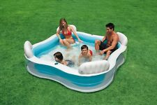 Intex Swim Center Lounge Family Swimming Pool Center mit Getränkehalter, N