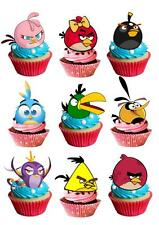 30 Angry Birds STAND UP Cupcake Fairy Cake Topper Edible Paper Decoration edible