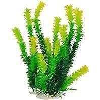 Aquatop Aquatic Supplies-Bushy Aquarium Plant With Weighted Base- Green 16 Inch