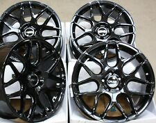 "18"" ALLOY WHEELS X 4 BLK CR1 FITS SAAB 9-3 9-5 93 95 9-3C JEEP COMPASS RENEGADE"