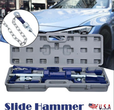 Slide Hammer Dent Puller Auto Body Repair Bearing Removal Tool Kit Connector 18