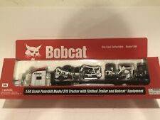 Bobcat Peterbilt Semi w/ 2 Skid Loaders & 2 MINI Excavators Model 1:50 scale