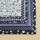 7 Assorted 100% Cotton Series PreCut Cotton Quilt Fabric Blue Fat Quarter 19.7''