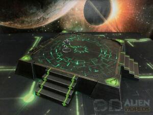 CC3D - Runic/ Necron Landing Pad - Wargames Miniatures Scenery 40k 28mm 15mm
