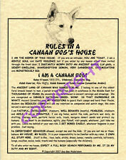 Rules In A Canaan Dog's House