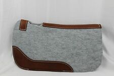 Mini  Saddle Pad Felt pad with barbed wire tooled wear leathers