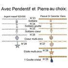 CHAINE de CHEVILLE en ARGENT ou Plaqué OR Neuf 51 Modeles au CHOIX
