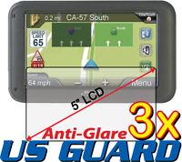 "3x Anti-glare LCD Screen Protector Magellan RoadMate 5265T-LM 5220-LM 5.0"" GPS"