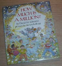 HOW MUCH IS A MILLION Signed by DAVID M SCHWARTZ 1985 1st Edition Hardcover