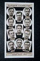 Aston Villa  1913   FA Cup Winning Team   Vintage Card  VGC