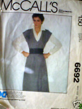 Vintage McCalls SEWING Pattern 1970's Jumper 6 8 6692