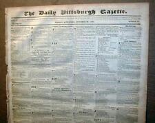 Large wholesale lot of 100 original US newspapers dated between 1820 & 1889