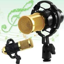 NEW Sound Studio Dynamic Mic+Shock Mount BM800 Condenser Pro Audio Microphone TR