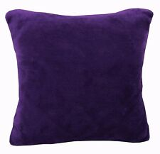 Fg26a Plain Purple Thick Faux Fur Material Cushion Cover/Pillow Case*Custom Size