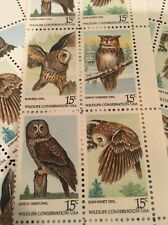 20  Owl Stamps For Holiday, Wedding And Valentine Mail