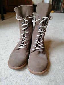All Saints Suede Lace Up Women's Boots Size 37/4