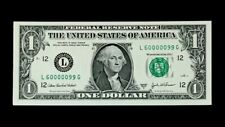 2003A $1 SUPER FANCY SER# 60000099 - FLIPPER - SUPERB GEM NEW - WELL CENTER