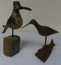 Lot of 2 Wood Carved & Painted Shore Birds 1 is Signed!
