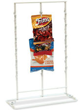 Counter Chip and Snack Display Rack - 3 Strip 36 Clip (White)