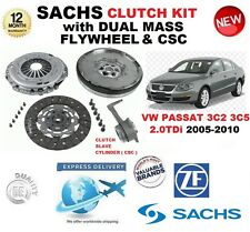 PER VW PASSAT 3C2 3C5 2.0 TDi SACHS FRIZIONE KIT 05-10 with VOLANO CSC BULLONI