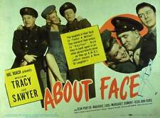 ABOUT FACE Movie POSTER 11x14 William Tracy Joe Sawyer Jean Porter Marjorie Lord