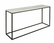 NEW 'CASA UNO Natural Stone Console Table with Black Base RRP $989.95