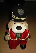 "FAO Schwarz 12"" Patrick The Pup Plush Dog Soldier Guard Royal Red Uniform Xmas"