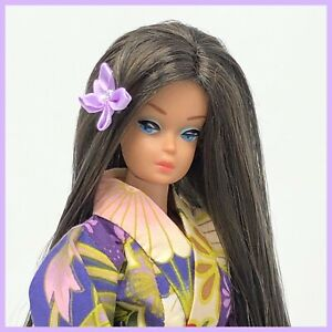 Vintage Barbie Fashion Queen Doll - Asian Kimono and Wig