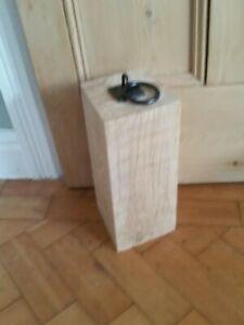 Tall solid english Oak Door Stop