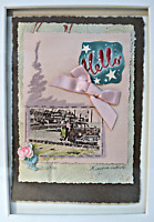 """""""Vacation"""", Framed Vintage Collage Artwork by M Laughin Luttrell"""