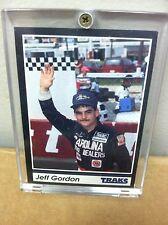 1991 traks Jeff Gordon #24 Rookie RC Card #1 DuPont Nascar