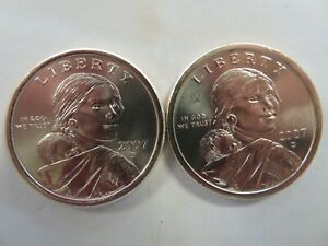 2007 Native American Sacagawea P and D set BU Uncirculated and free shipping