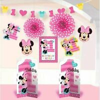 Amscan 1st Birthday Minnie Mouse Room Decorating Kit 10 Piece Party Supplies...