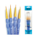 Royal Langnickel Paint Brush Set GOLDEN TAKLON 4pc DETAIL CRAFTERS CHOICE RCC203