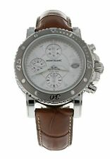 Montblanc Sport Steel Automatic Men's 41.5mm Chronograph Leather Watch 35777