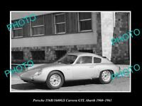 OLD LARGE HISTORIC PHOTO OF 1960 PORSCHE 356B CARRERA GTL LAUNCH PRESS PHOTO