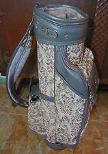 RARE,Vtg. French Luggage Grey Rose Tapestry Hogan Golf Bag,EXCELLENT,CUSTOM?